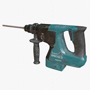 3D model Power Hammer Drill