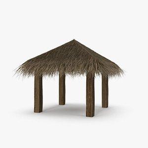 Straw Beach Pergola 3D
