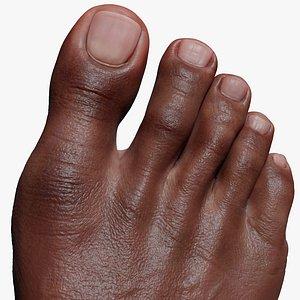 3D model Black foot Zbrush