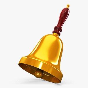 3D gold hand bell v