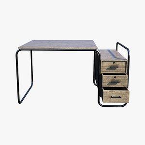 Bauhaus Tubular Desk 3D model