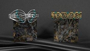 Set of bralets 3D model