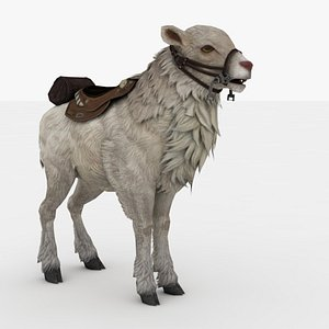 3D Goat Rigged model