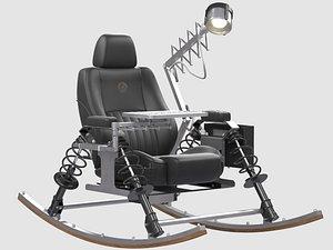3D model DONDOLO rocking chair Enrico Marone Cinzano
