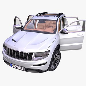 generic american suv interior car 3D model