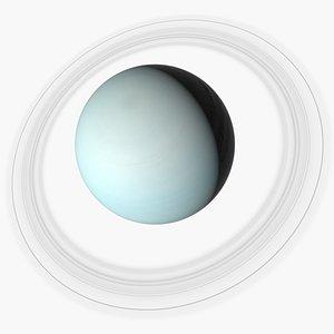 Photorealistic Uranus 3D