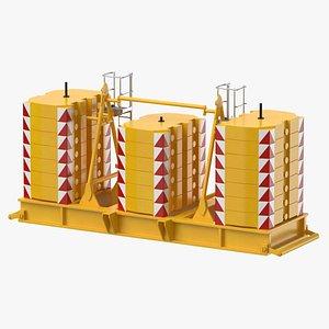 3D crane super lift counterweight