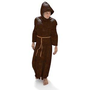 3D Medieval Monk