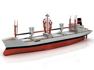Oil Tanker Cargo Ship - Bahrain 3D model