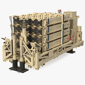 Iron Dome Mobile Air Defense System Folded Position 3D model