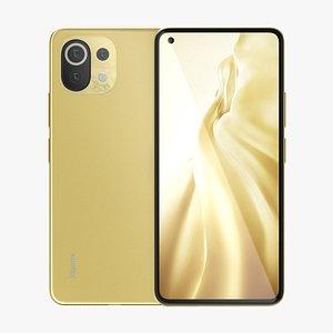 Xiaomi Mi 11 Lite Yellow 3D model