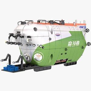 submersible submarine vehicle 3D model