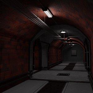 3D tunnel scene model