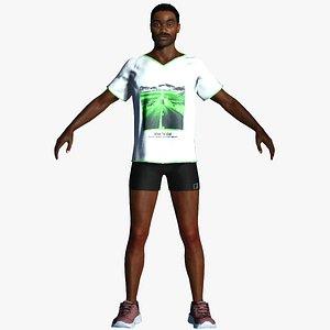 talking sportsman 3D model