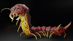insect nature caterpillar model