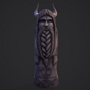 3D model Viking God Statue