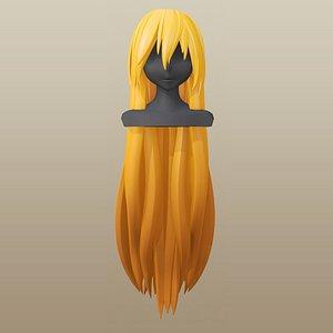 3D hair girl anime