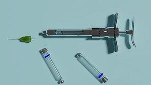 syringe anesthetic dental 3D model