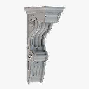 Scroll Corbel 13 3D model