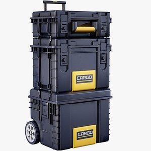 3D futuristic industrial crates contains