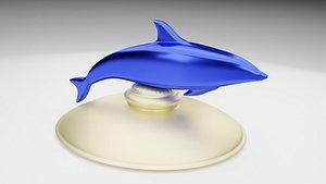 blue dolphin 3D model