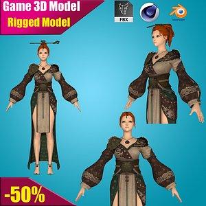 female agent 3D model