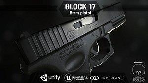 3D Glock 17 Pistol