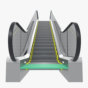 Shopping Mall Escalator 3D model