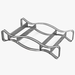 Steel Horizontal Drum Stand 3D model