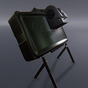 3D Claymore - M18 Mine Low-poly 3D model