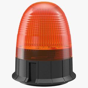 3D magnetic orange flashing beacon