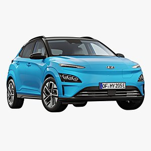 2021 hyundai kona electric 3D model