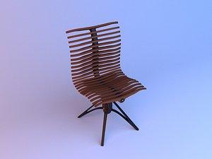3D Parametric ergonomic spine chair 3D model