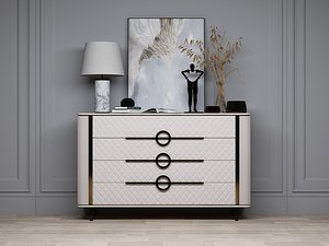 Modern Style Console - 051 3D model