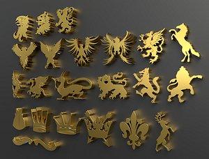 heraldry 3D model