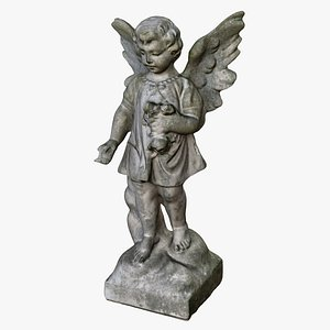 3D angel statue statuette model