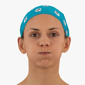 3D athena human head cheek model