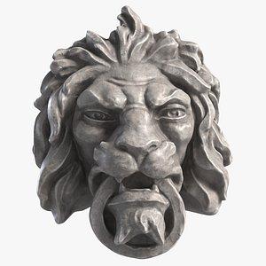 Mascaron Lion Head Mold 6 3D