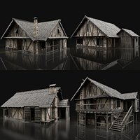 ENTERABLE AAA NEXT GEN MEDIEVAL CITY TOWN HOUSE HUT BUILDER