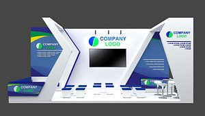 3D booth 9x4 model