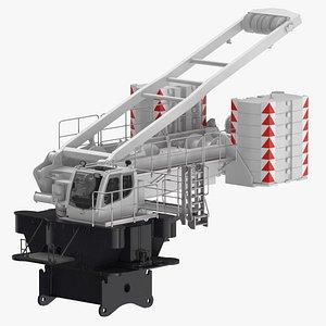 3D model crane lr 1600 base