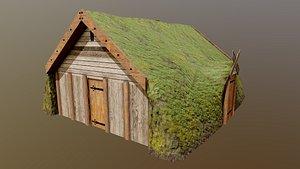 house turf iceland 3D model
