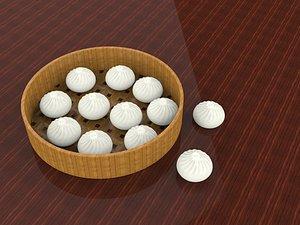 Steamed dumplings 3D model