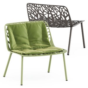 Forest lounge chair 3D model