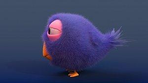 fluffy bird 3D