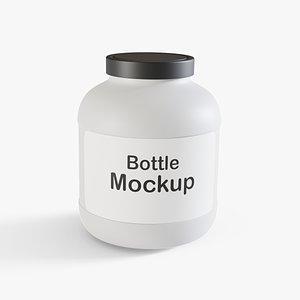 3D Plastic Bottle 2 model