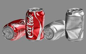 3D model crushed soda
