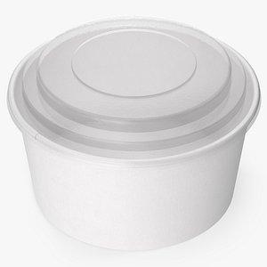 3D paper food bowl clear