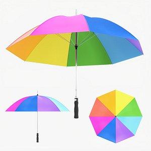 Large automatic umbrella colorful model