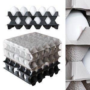 eggs tray plastic model